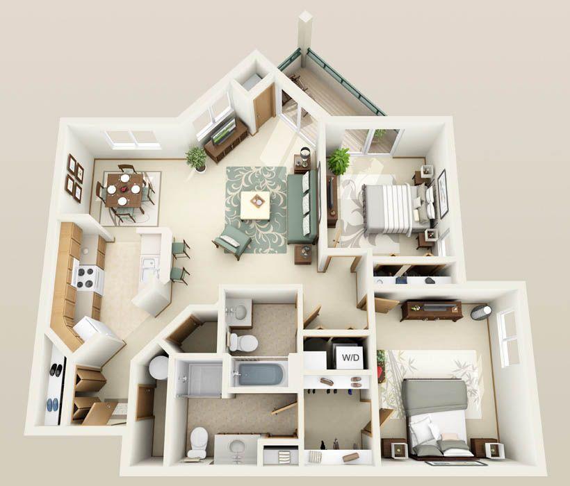 1, 2 & 3 Bedroom Apartments with heated underground parking in Pleasant Prairie, WI