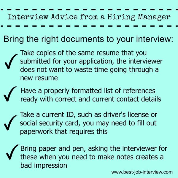 Have The Right Documents Ready To Take To Your Job Interview Interviews Job Advice Interview Advice Job Interview Tips