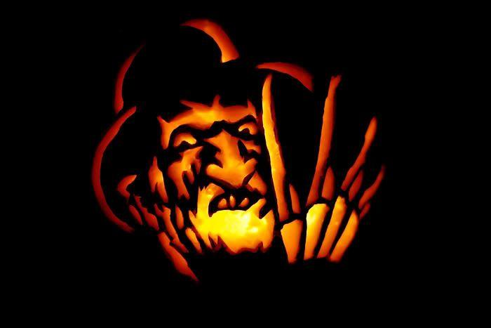 Freddy Krueger Pumpkin Carving From Nightmare On Elm Street Scary Pumpkin Pumpkin Carving Halloween Camping