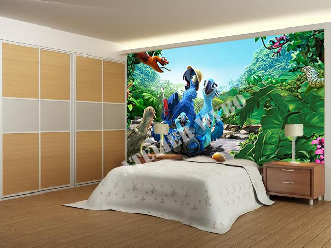 Lovely Papier Peint Poster Mural Geant #2: Papier Peint 3D / Poster Géant « Dans La Jungle 1»