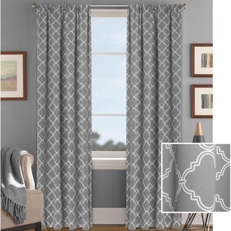 Better Homes And Gardens Trellis Room Darkening Curtain Panel Walmart Com Panel Curtains Cool Curtains Room Darkening Curtains