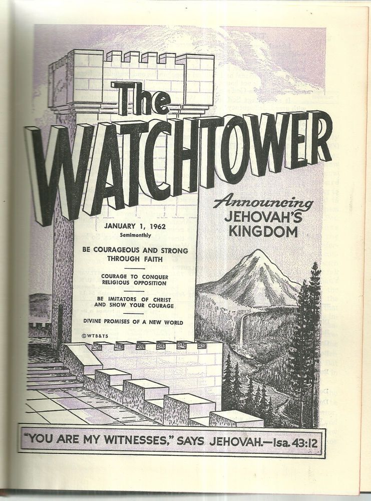 1962 Bound Volume Of Watchtower Watch Tower Jehovahs Witness