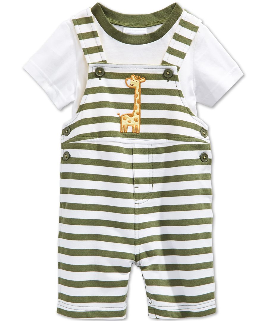 First Impressions Baby Clothes Fair First Impressions Baby Boys' 2Piece Giraffe Shortall & Tshirt Set Design Decoration