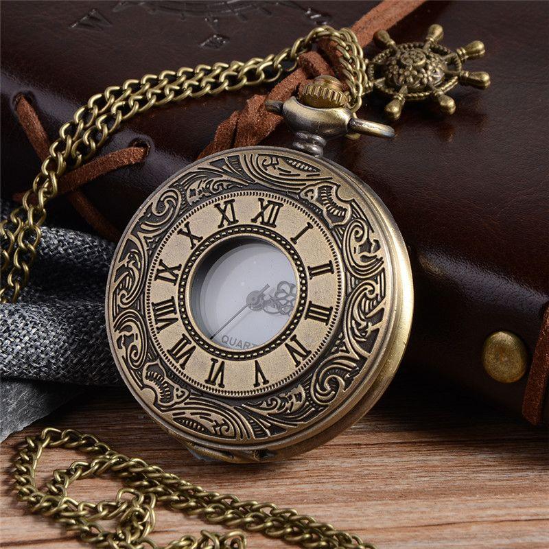 fa5761441 Cheap de bolso, Buy Quality relogio de bolso directly from China pocket  watch Suppliers: Steampunk Bronze Quartz Pocket Watch Vintage Roman  Numerals Clock ...