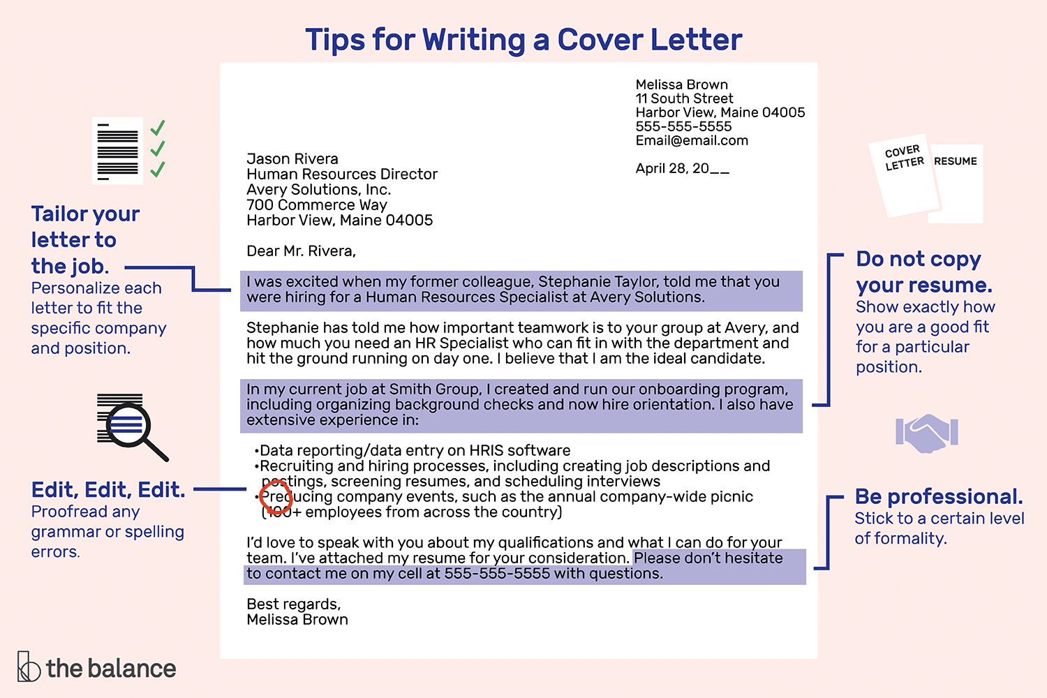 26 Tips For Writing A Cover Letter Writing A Cover Letter Cover Letter For Resume Cover Letter