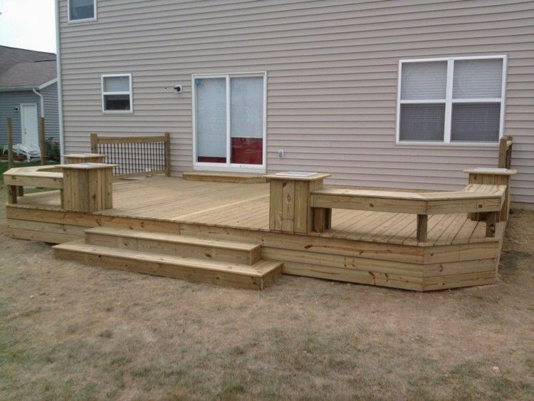 50 Classy Backyard Patio Deck Design And Decor Ideas Patio Deck Designs Decks Backyard Patio Design