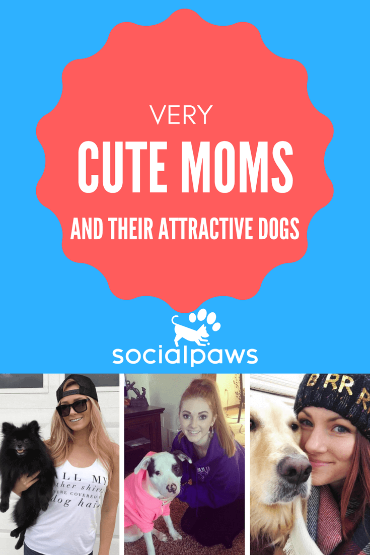 Very cute dog moms and their attractive dogs dog mom dog