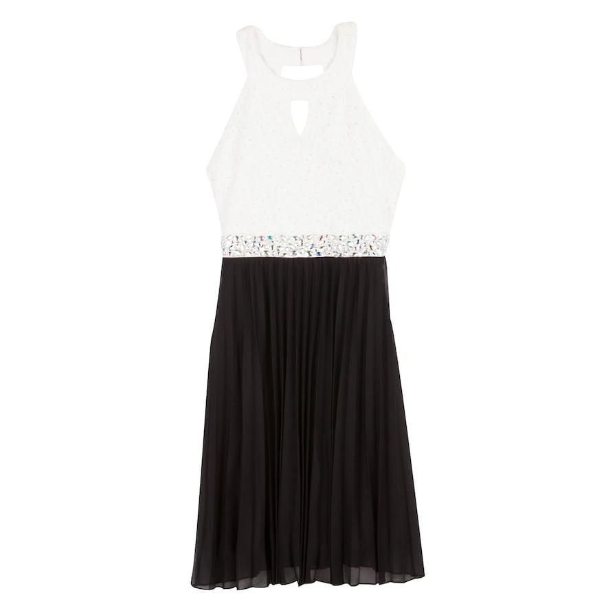 ef8a0462b985 Girls 7-16 Speechless Knee Length Glitter Lace Dress, Size: 7, White