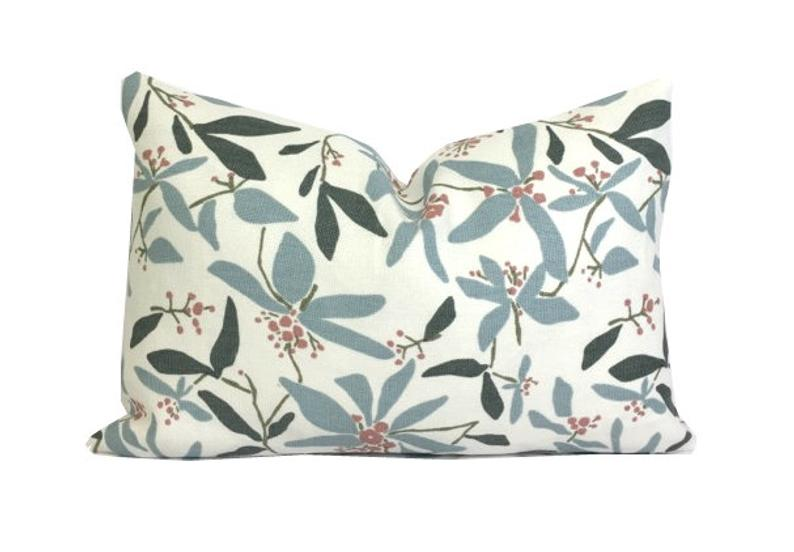 Block Brayer Mountain Laurel Pillow Cover Lumbar Etsy Artisan Textiles Pillows Mountain Laurel