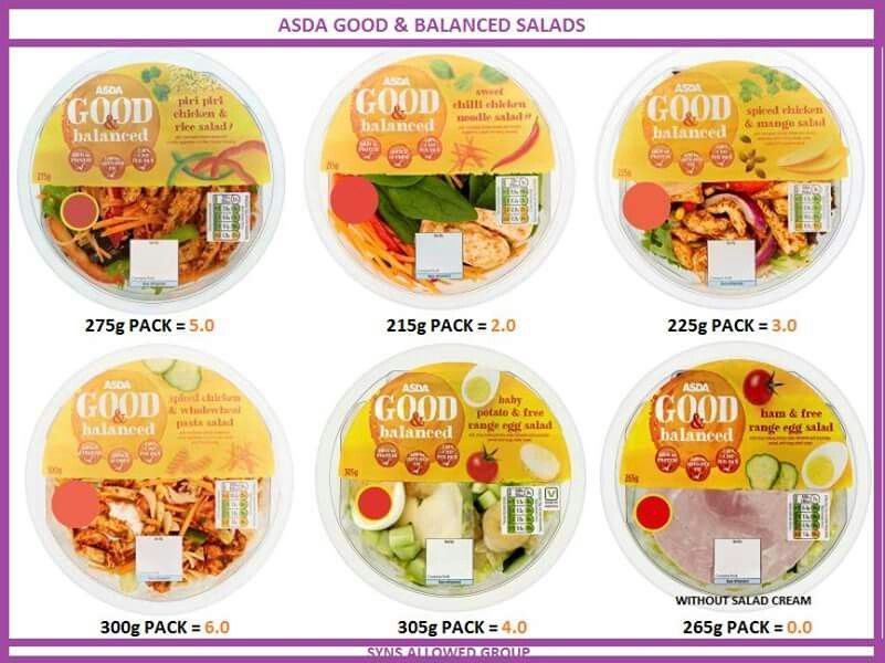 Asda Good Balanced Salads Slimming World Pinterest