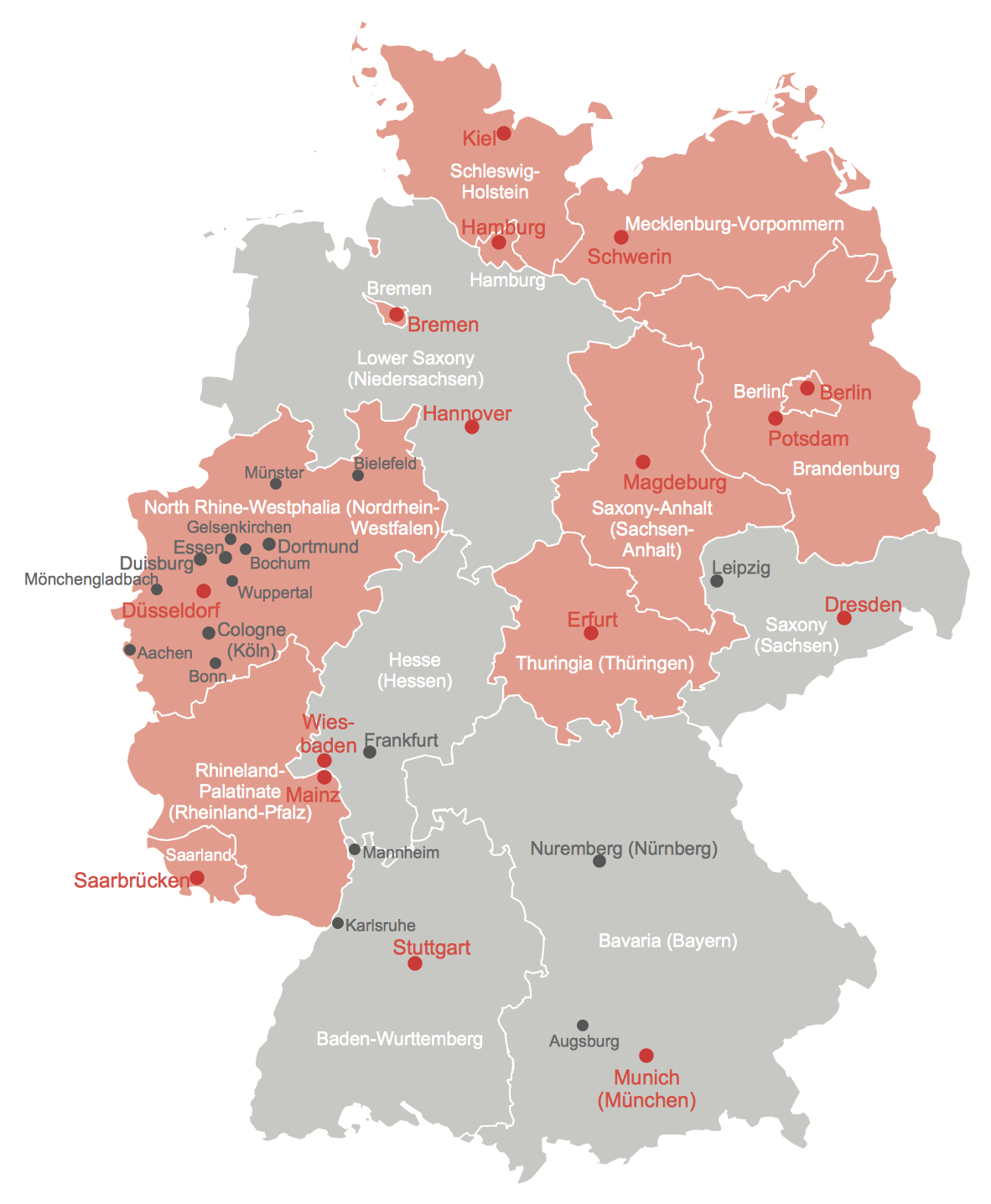 Example 2: States of Germany with Freedom of Information Legislation on map of rastatt, map of münster, map of monchengladbach, map of saarland, map of basel, map of osterholz-scharmbeck, map of nurtingen, map of nordlingen, map of marburg, map of herzogenaurach, map of porto, map of hamm, map of bowbells, map of hindenburg, map of schwaben, map of bruchsal, map of oberpfalz, map of remagen, map of holzkirchen, map of cochem,