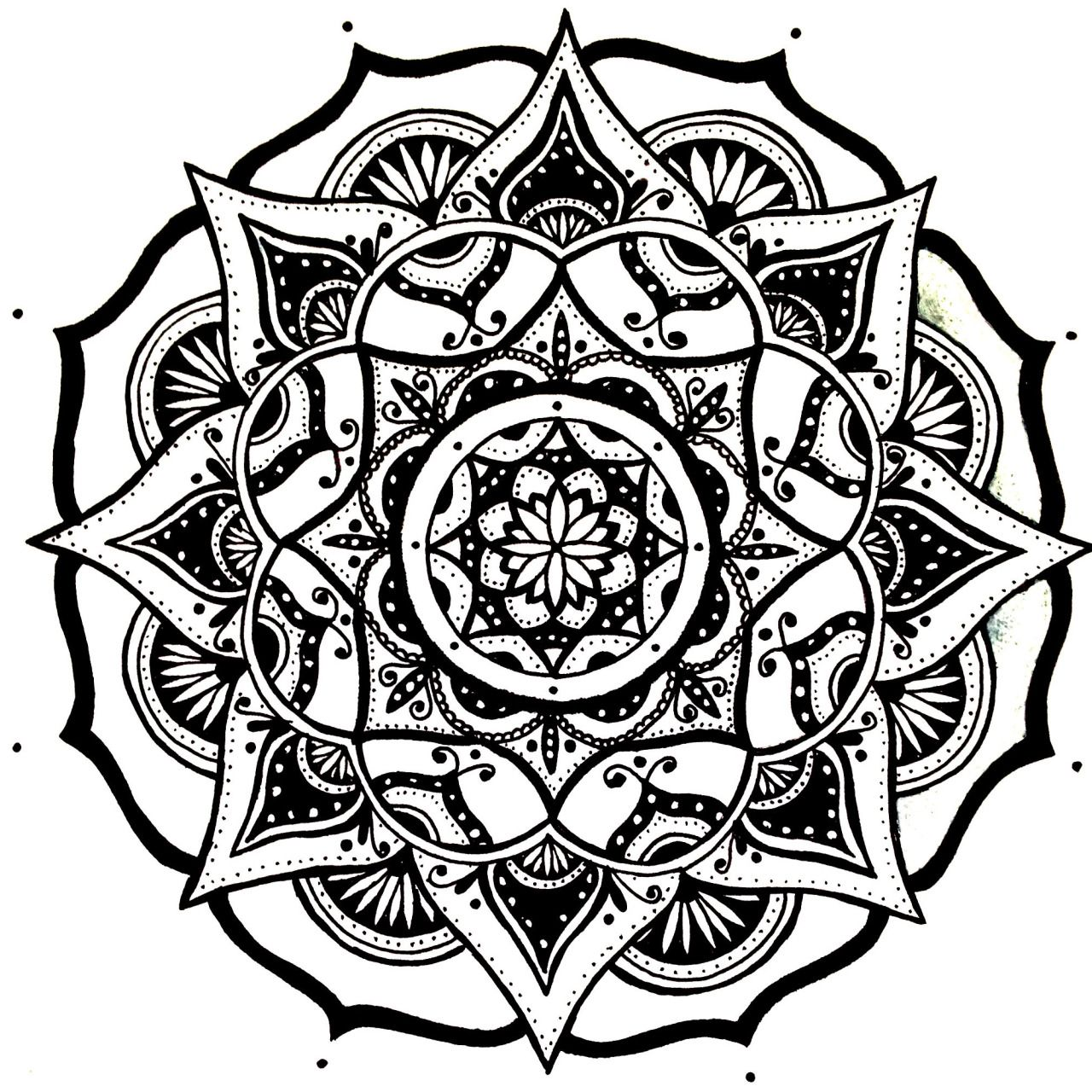easy henna coloring pages - mandala designs moonlitwoodland quick simple mandala