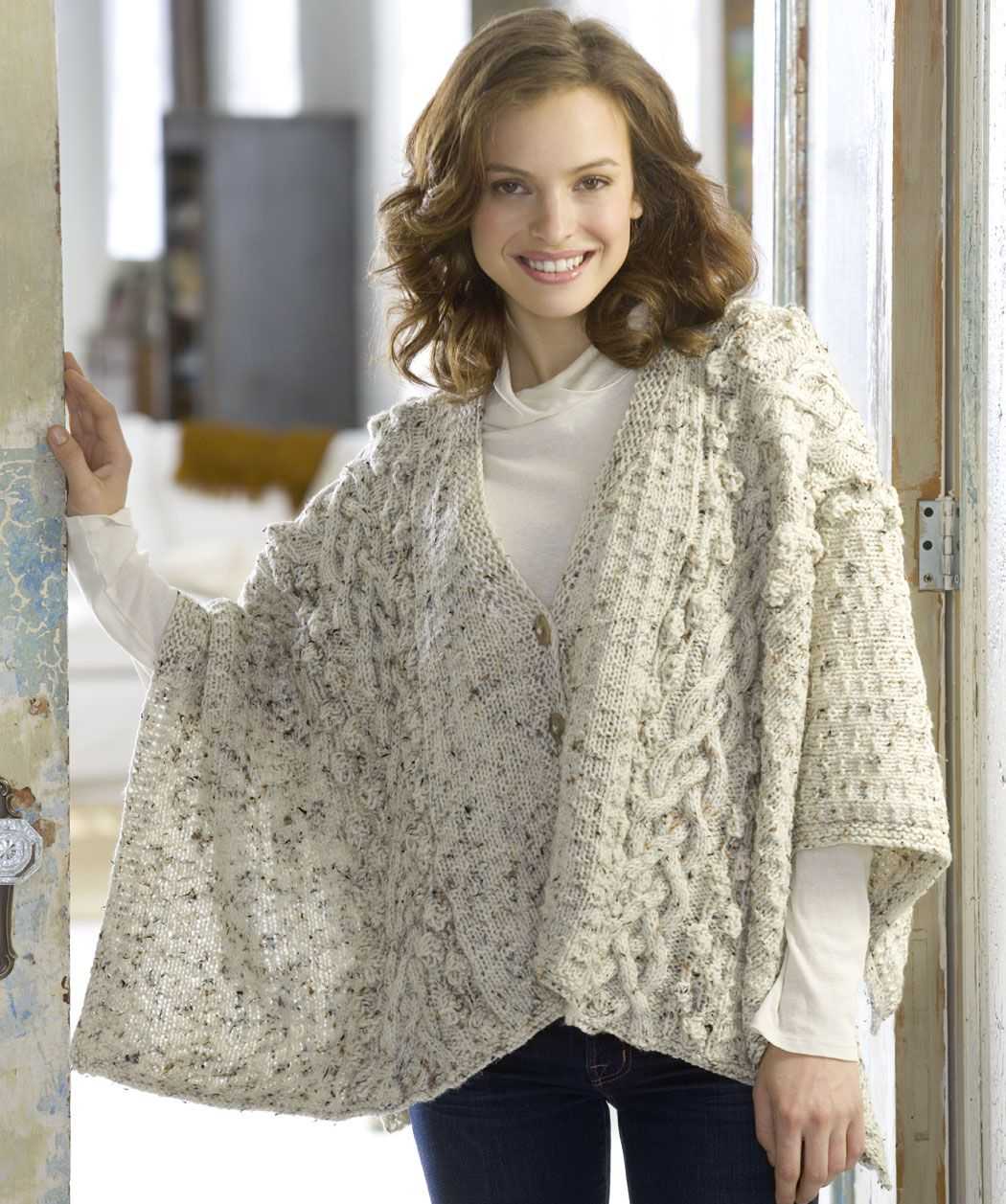 Aran Knit Wrap. I need someone who knows how to knit to make this ...