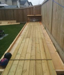 Build your own backyard bowling alley!   Diy bowling alley ...