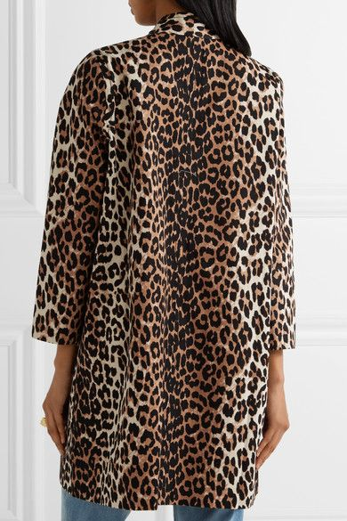 e96330eb3d22 Leopard-print cotton-twill Button fastenings through front 100% cotton;  lining: 100% silk Dry clean Imported
