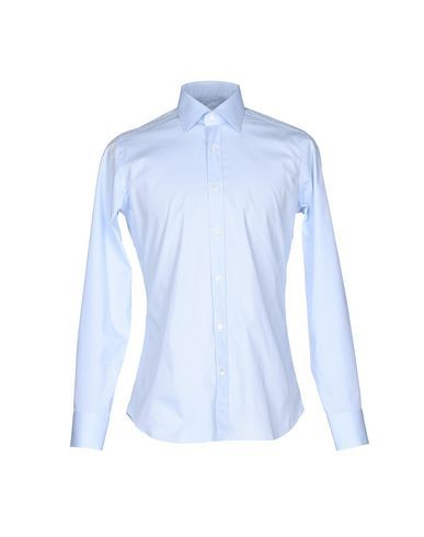 GUGLIELMINOTTI Men's Shirt Sky blue 17 inches-neck