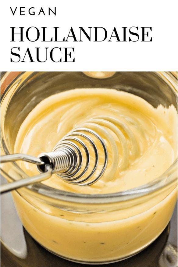 Vegan Hollandaise Sauce | thiswifecooks.com #veganbrunch #veganhollandaise #easy... - #Easy #Hollandaise #Sauce #thiswifecookscom #vegan #veganbrunch #veganhollandaise #hollandaisesauce