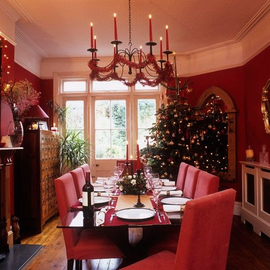 25 Stunning Christmas Dining Room Decoration Ideas  Cosy Best Christmas Dining Room Review