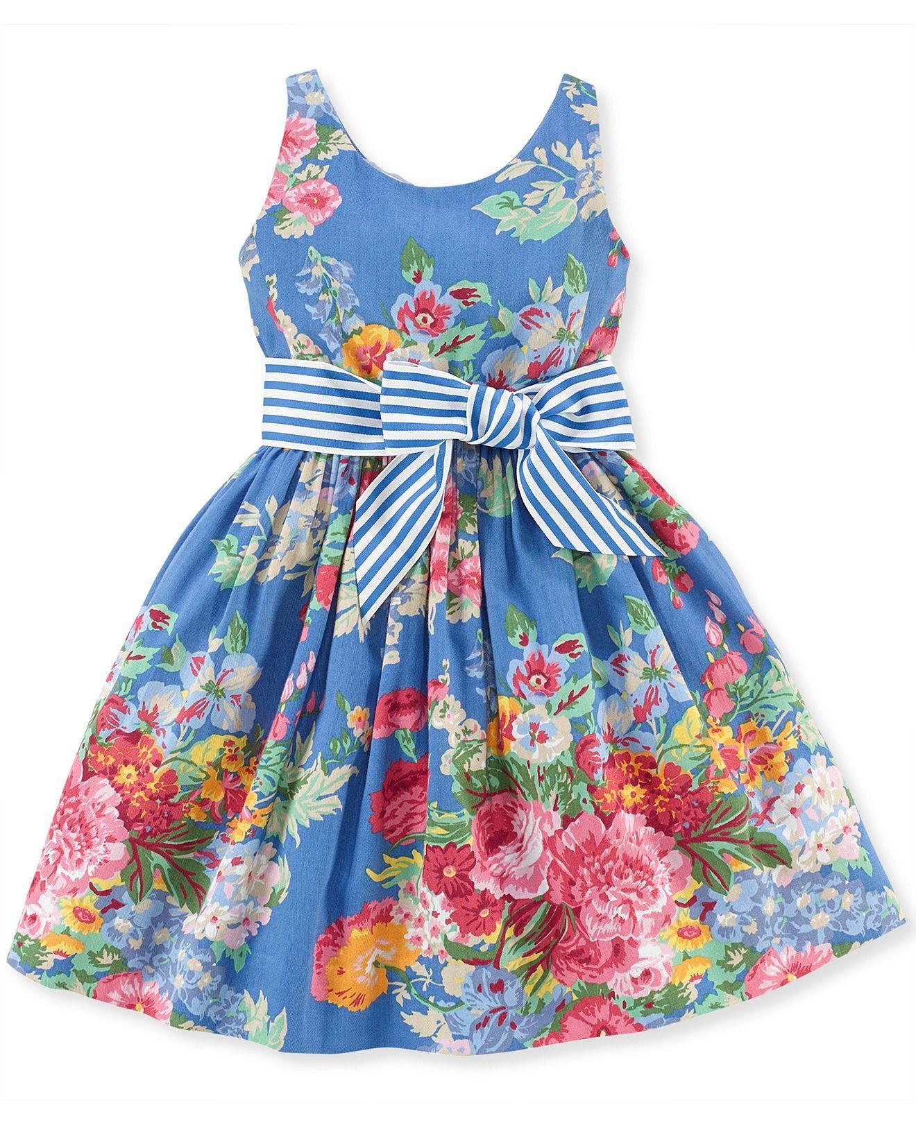 Polo Ralph Lauren Little Girls  Sateen Dress - Kids Girls Dresses - Macy s ba7cbd56d3c2