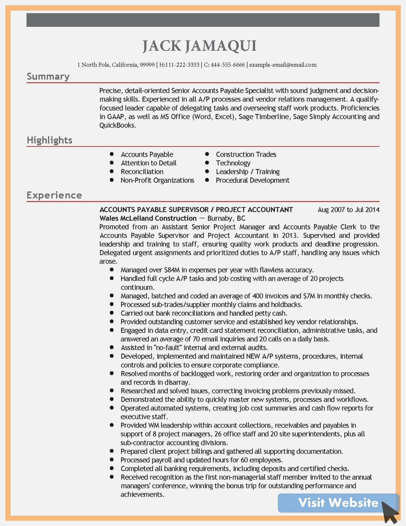 35 accounts payable resume examples in 2020 resume