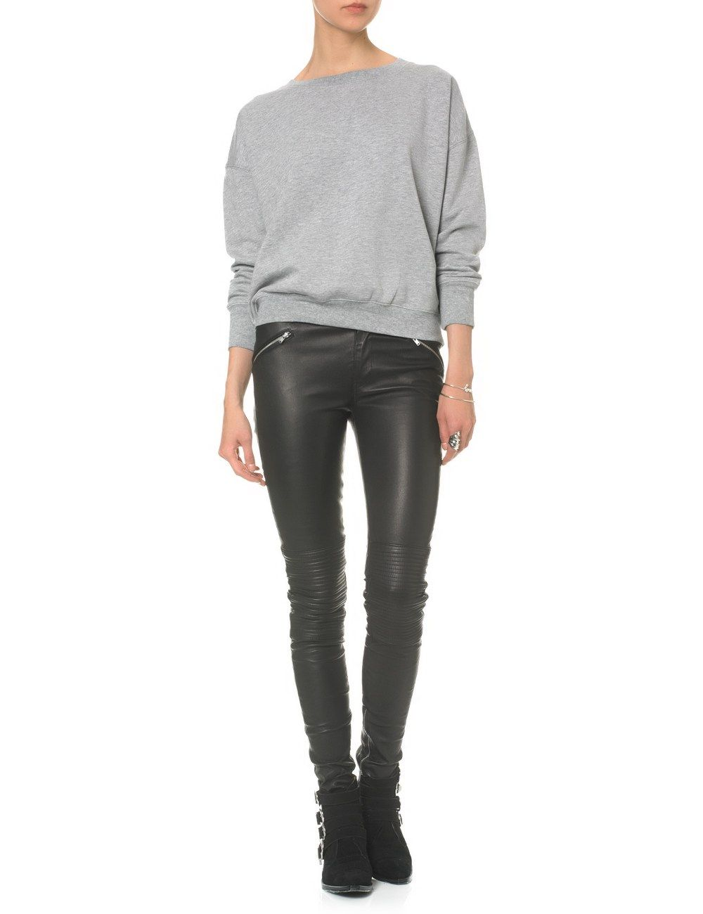 Grey Melange Sweatshirt 6   BLK DNM   Avenue32