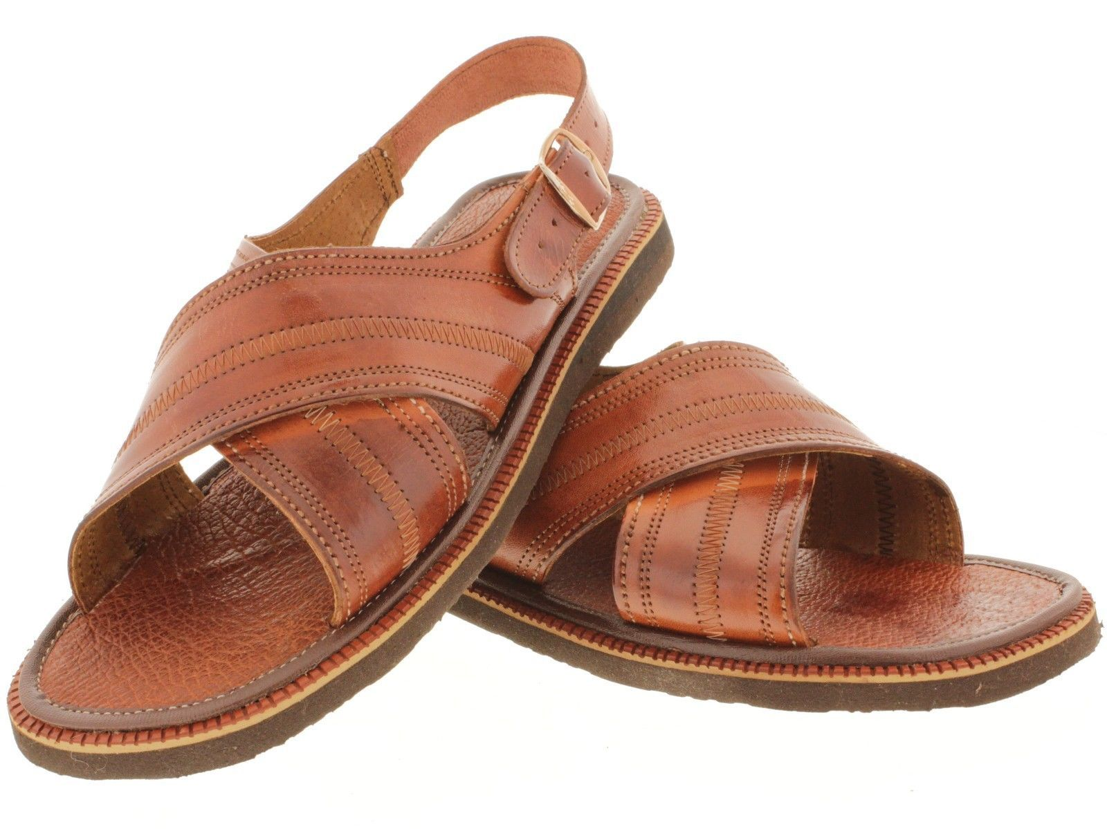 4f8d6be209e MEN S BROWN GENUINE HAND-WOVEN LEATHER MEXICAN SANDALS HUARACHES     brown   mexican  huaraches