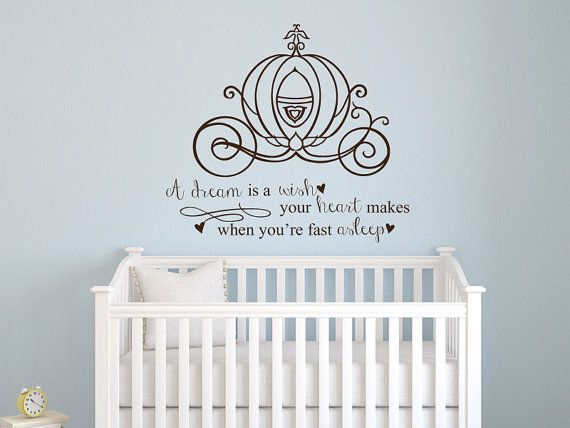 Cinderella A Dream Is A Wish Your Heart Makes Quote Vinyl Wall