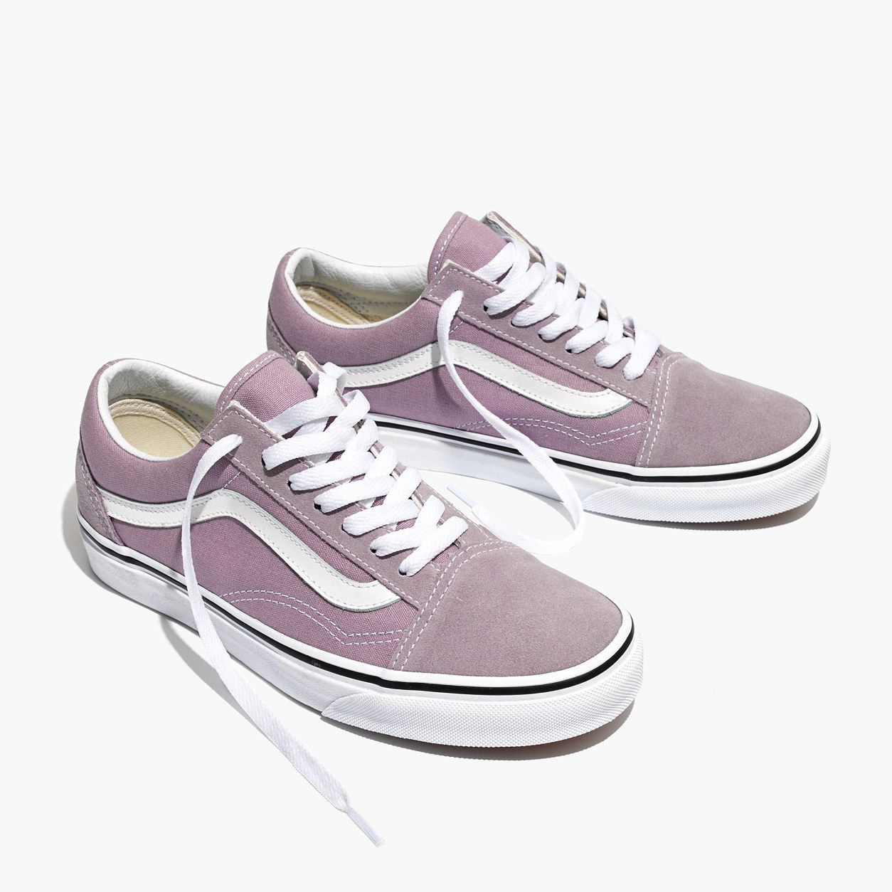 b2fb69d3081f52 Madewell Womens Vans Unisex Old Skool Lace-Up Sneakers In Sea Fog ...