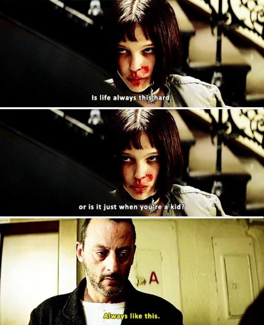 """Best Action Movie Quotes: """"Always Like This."""" (Leon: The Professional)"""