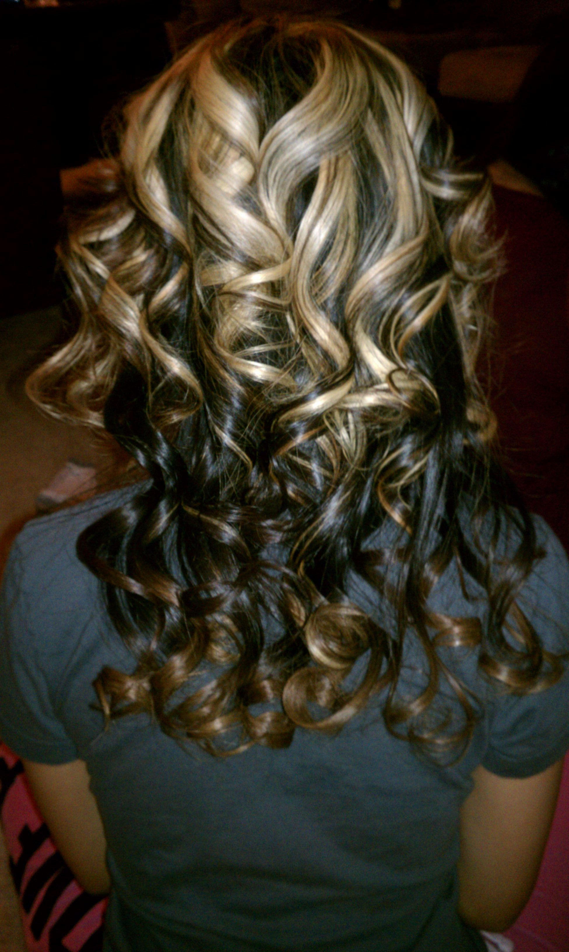 """spiral curls using a 1"""" curling iron 