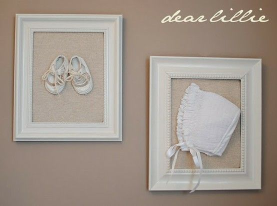 Refinish Old Frames And Use For Baby Clothing Display