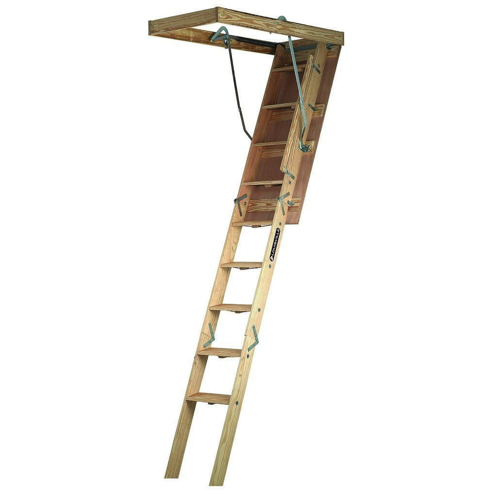 Louisville Ladder Cl254p Folding Attic Ladder 25 5 X 54 Atticapartmentbalcony Attic Ladder Attic Flooring Garage Attic
