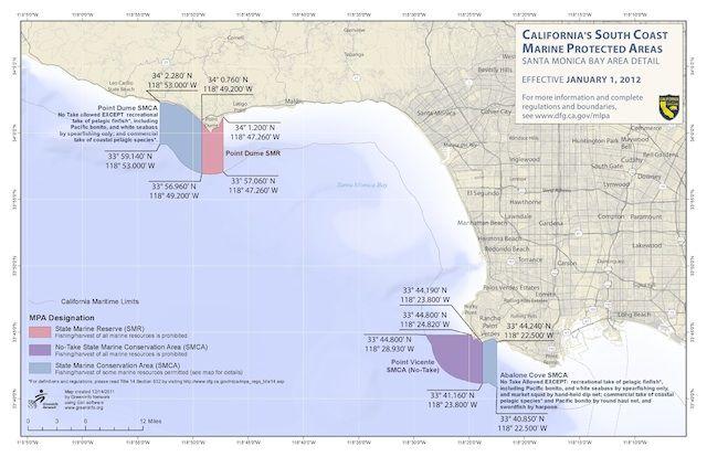 Marine protected areas along the Santa Monica Bay