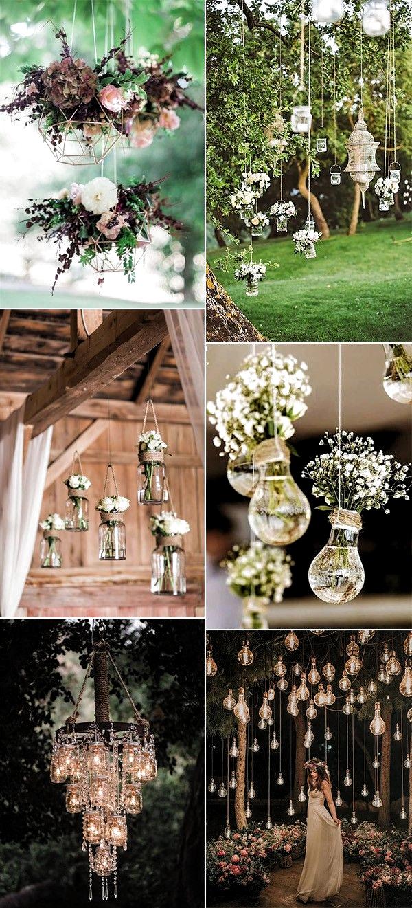 Outdoor Wedding hanging decoration ideas, inspiration. Wedding Decor Idea |  Light … in 2020 | Hanging wedding decorations, Rustic wedding decor,  Outdoor wedding decorations