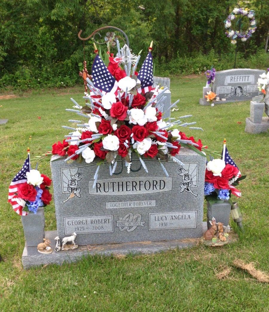 Memorial Grave Saddle For My Veteran Angela S Flowers