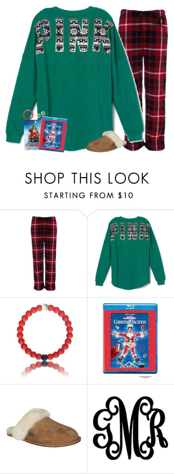 """""""(Day 5) Christmas morning!"""" by gourney ❤ liked on Polyvore featuring moda, Victoria's Secret PINK, UGG Australia, QVC e christmascontestforellie"""
