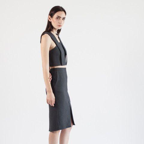 Modern Citizen | Modern Citizen  |  Wren Structured Suiting Pencil Skirt (Grey) - 1 $72