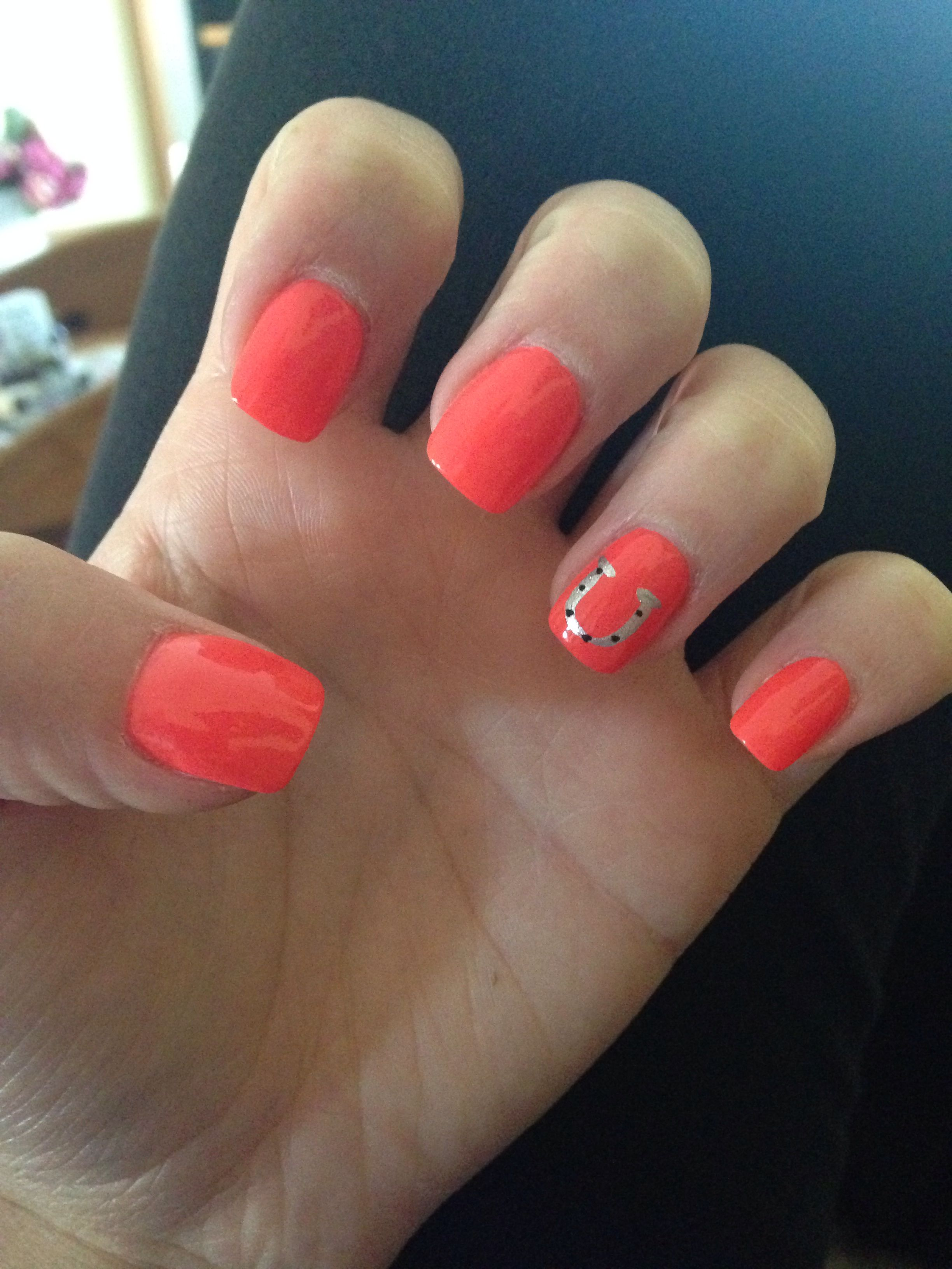 My nails-horseshoe design   Nails   Pinterest