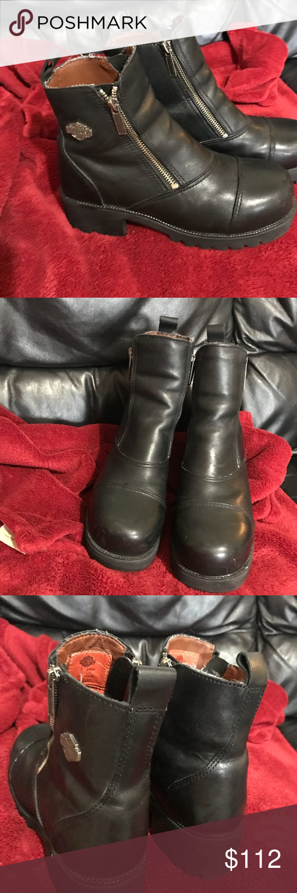 Heavy Duty women steel toed HD riding boots. These are in great condition. I