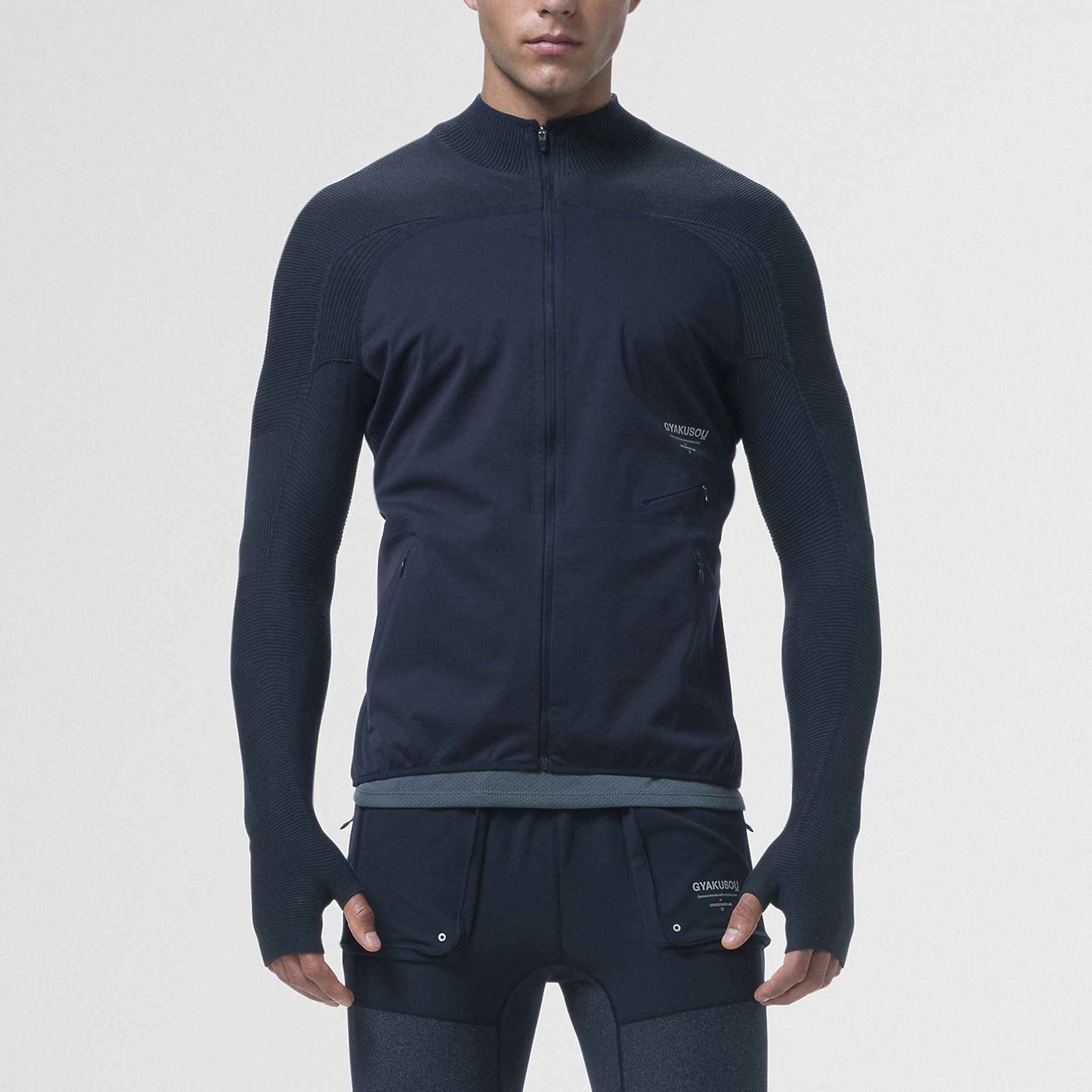 release date 89a25 30f29 Nike Gyakusou Engineered Knit-Sleeve Composite Men s Running Jacket