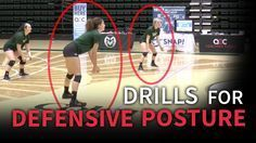 Two drills for developing good defensive posture   The Art of Coaching Volleyball - #coaching #defensive #developing #drills #posture #volleyball - #Cambridge