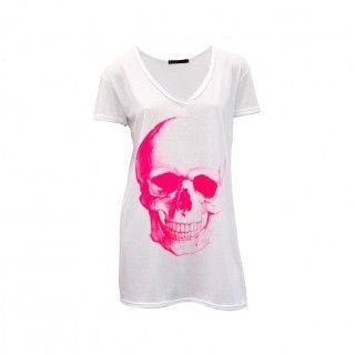 Camiseta Caveira Pink