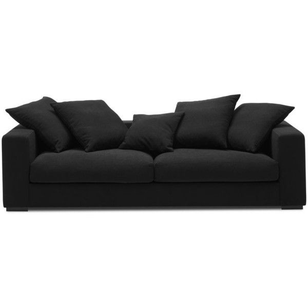 Cenova Sofa Liked On Polyvore Featuring Home Furniture Sofas Black Lacquer Couch And Ebony
