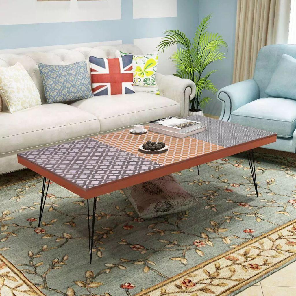 Table Basse Vidaxl En Mdf Brun Table Basse De Style Antique Basse