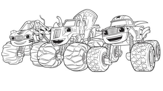 Trust image inside blaze and the monster machines printable coloring pages