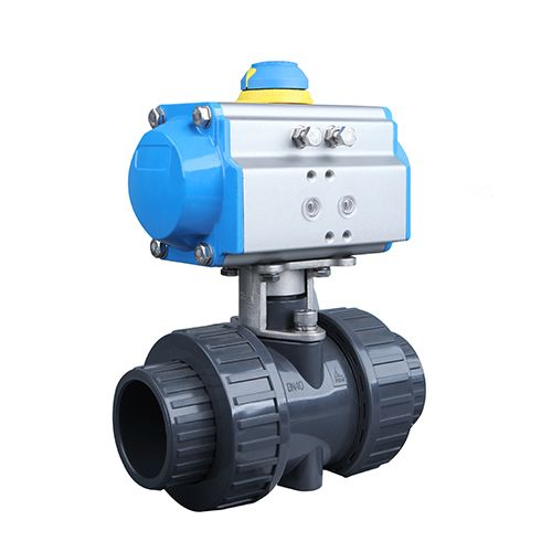 Pneumatic Actuated PVC Ball Valve with True Union Connection. odelo.dyrus@hotmail.com