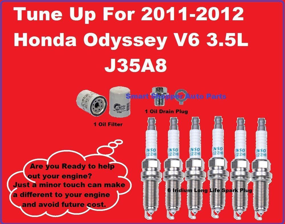 Tune Up 2011-2012 Honda Odyssey Spark Plug,  Oil Filter, Oil Drain Plug #AftermarketProducts