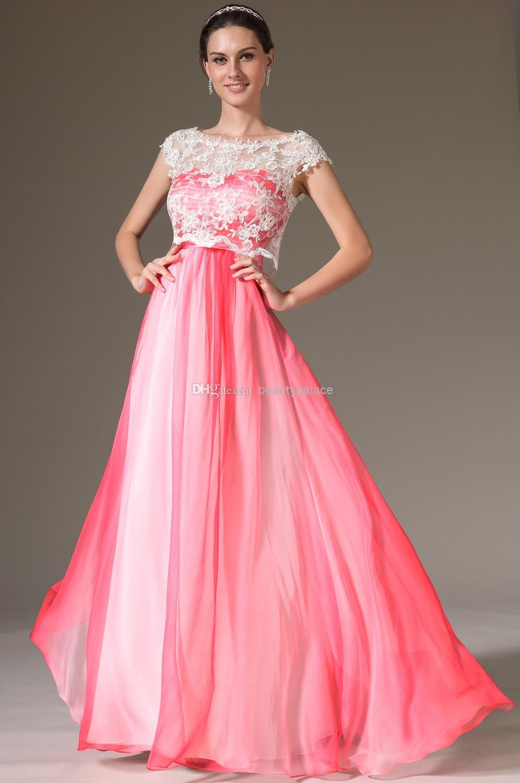 Wholesale unique design a line sweetheart red chiffon prom dresses