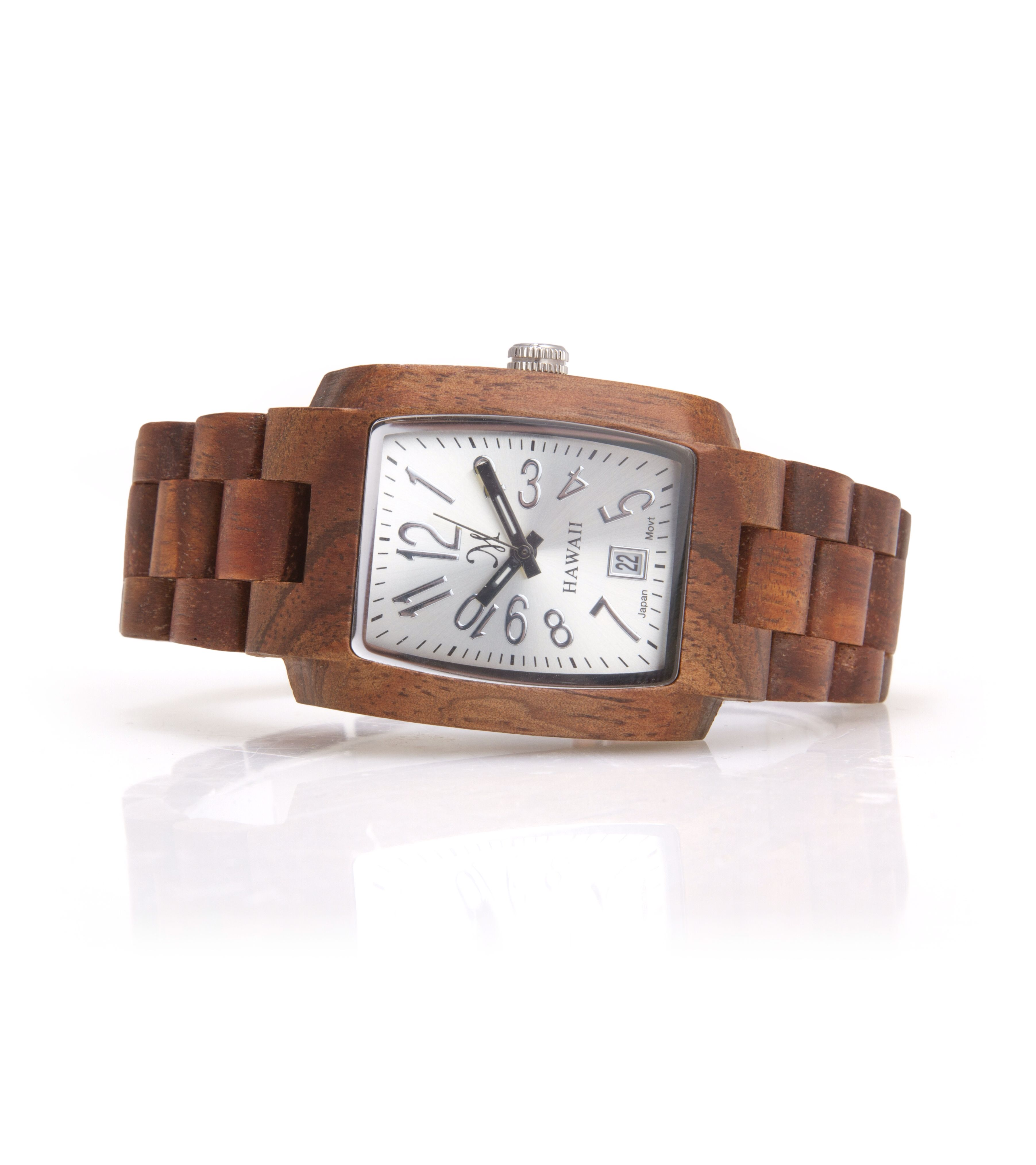 Pin By Gagan Sampla On Clocks: Solid Koa Wood Watch With Silver Face. Only At Www
