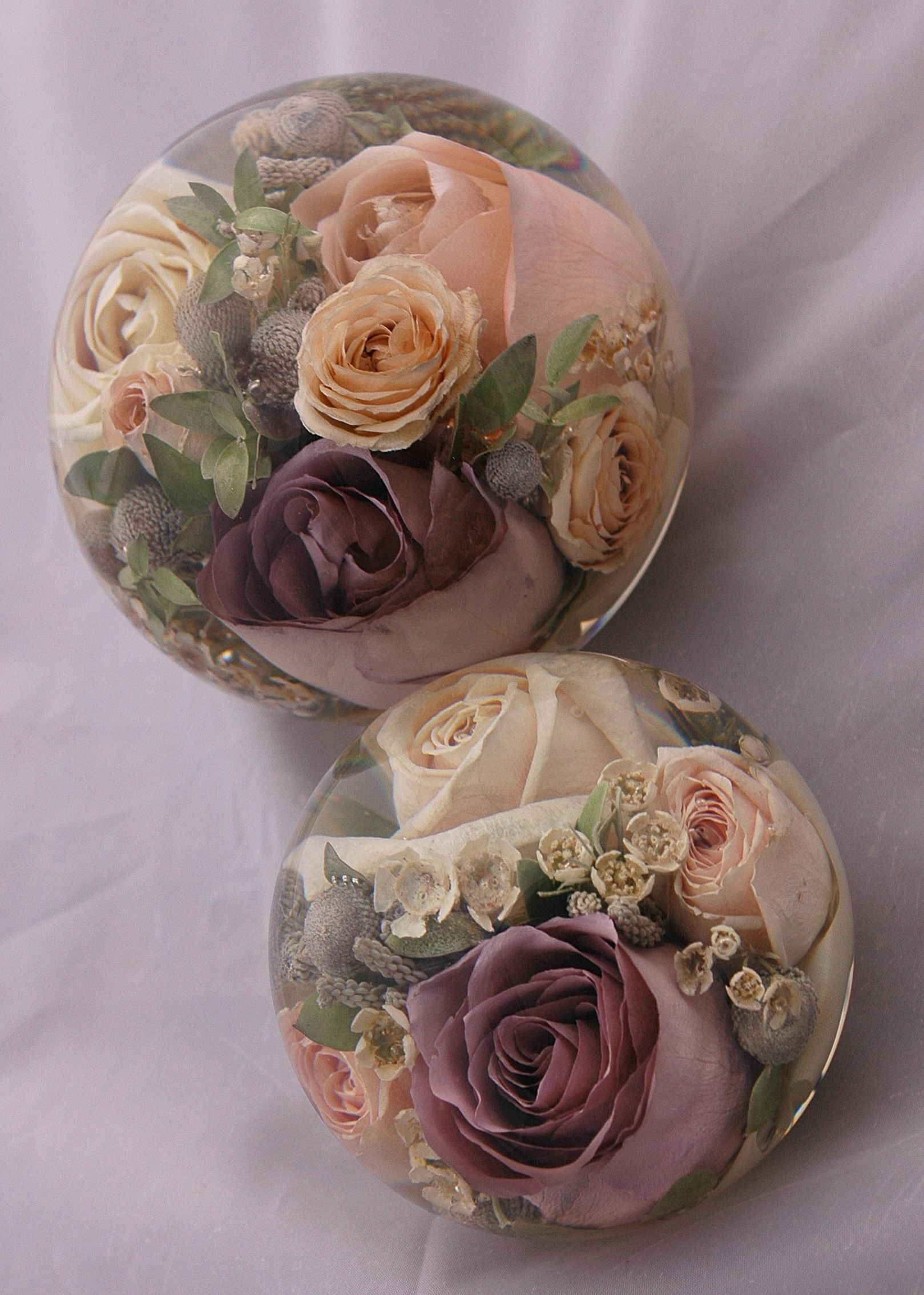 Two of the images of our 2 designs of wedding flower